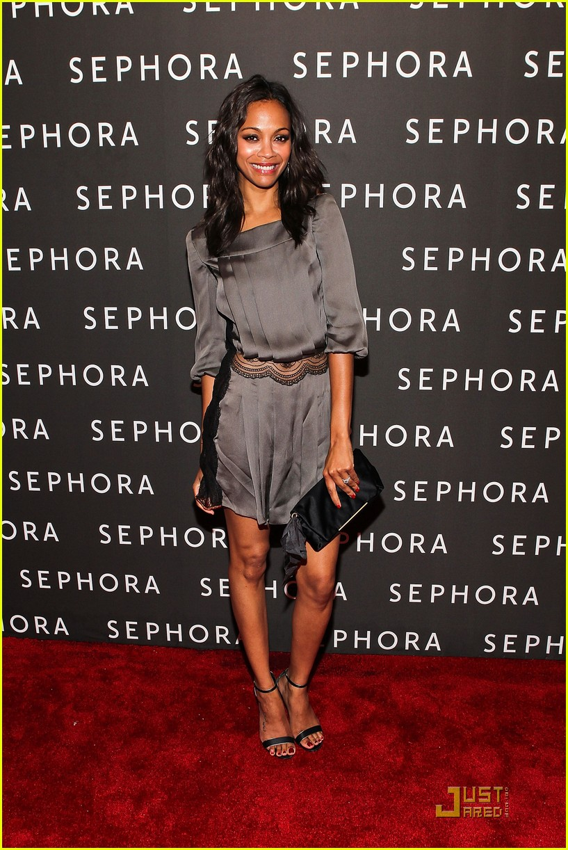 zoe saldana jesse williams sephora opening 01