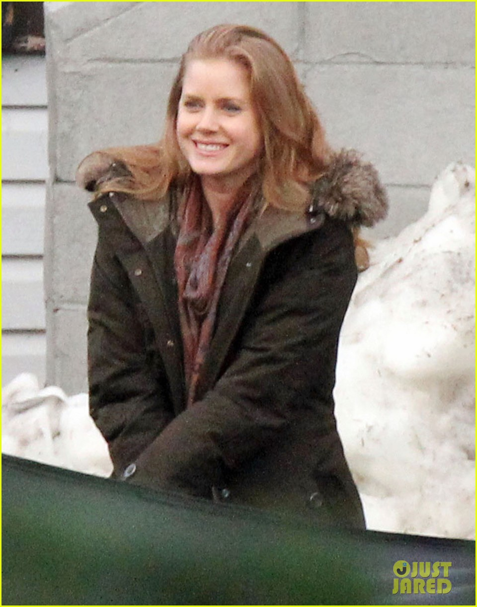 amy adams on set of man of steel 09
