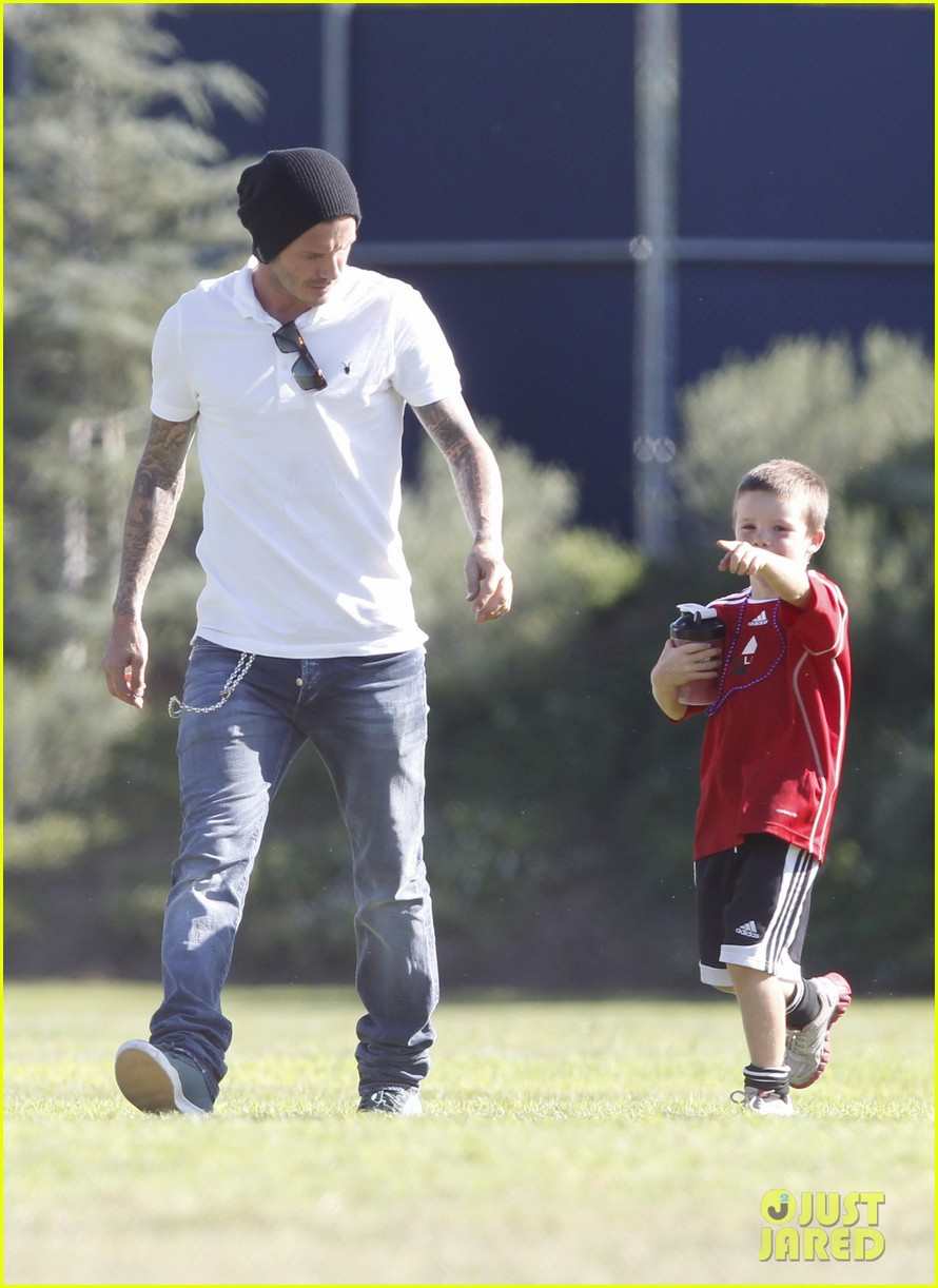 david beckham watches kids soccer 10