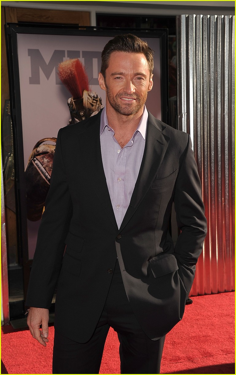 hugh jackman real steel universal city premiere 05