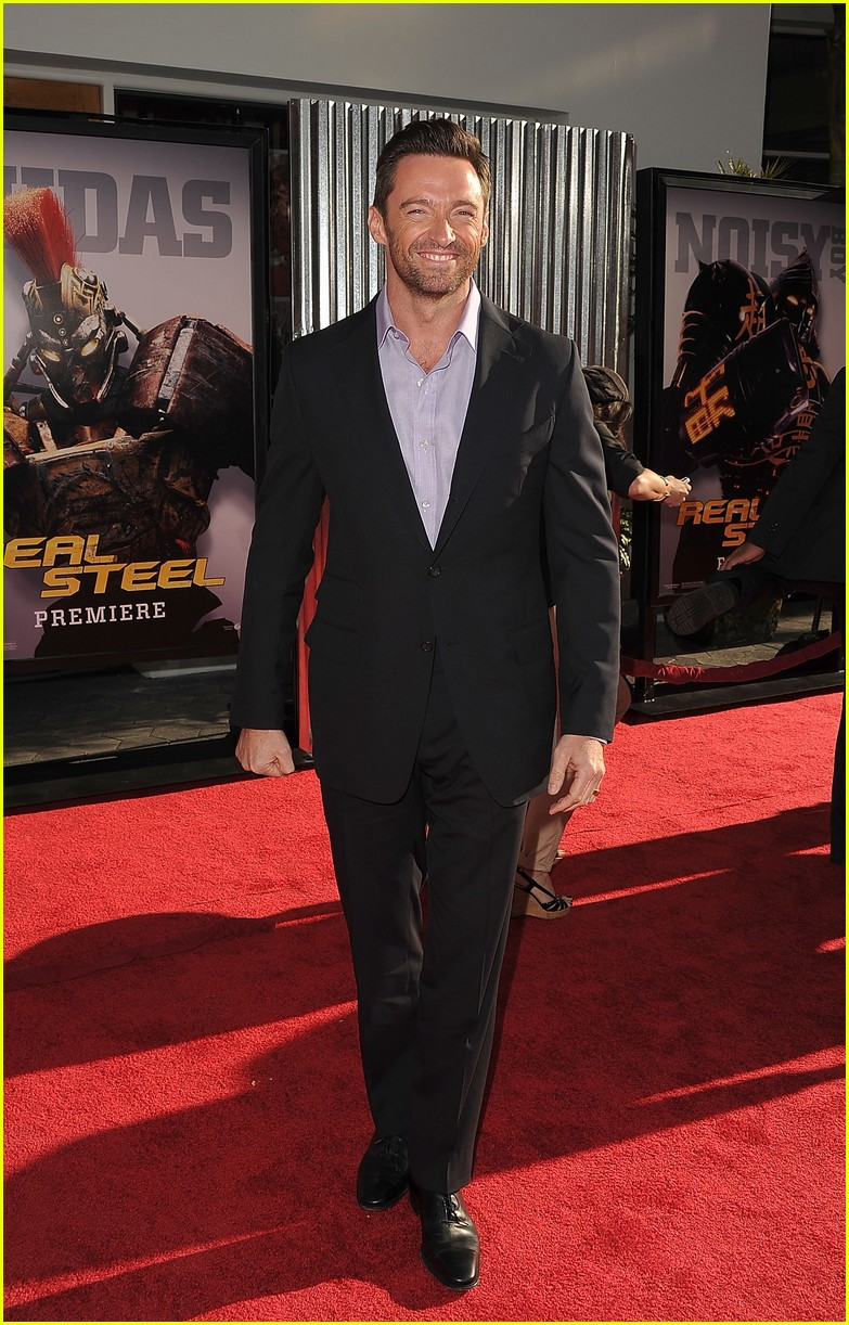 hugh jackman real steel universal city premiere 092586234