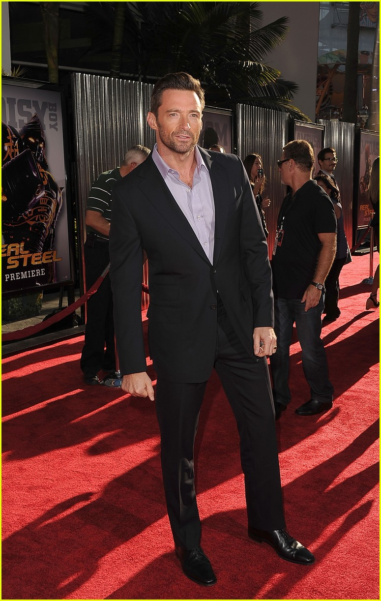 hugh jackman real steel universal city premiere 20