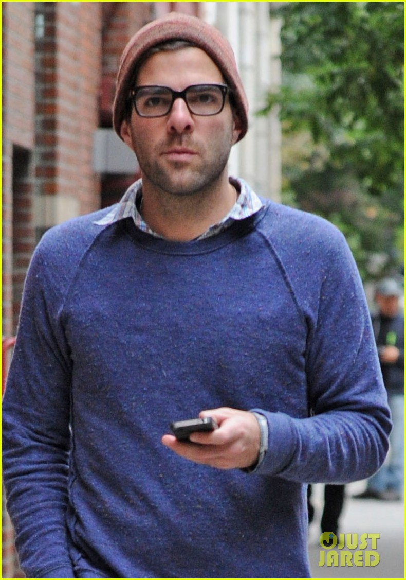 zachary quinto sweater walk nyc 03