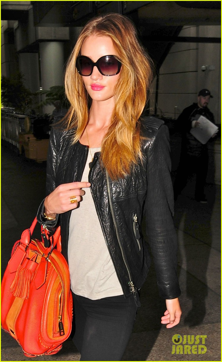 rosie huntington whiteley lax orange purse 02