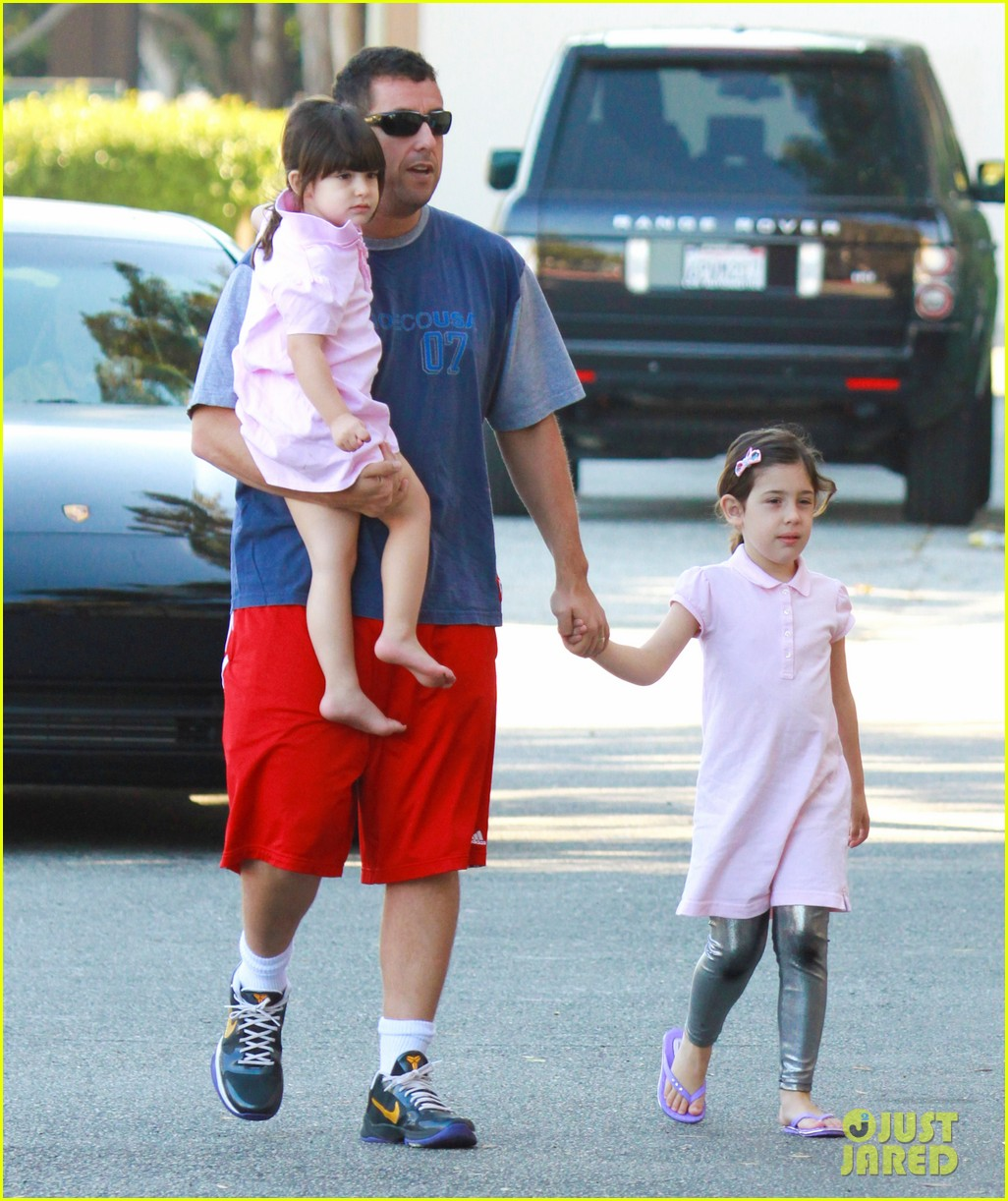 adam sandler takes sadie sunny to the gym 01