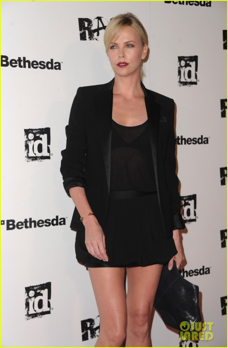 charlize theron stacy keibler rage launch party 15
