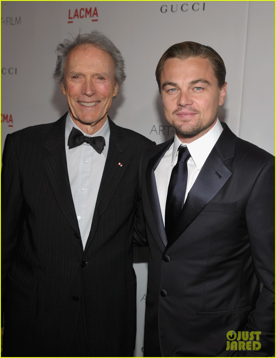 leonardo dicaprio lacma gala with clint eastwood 03