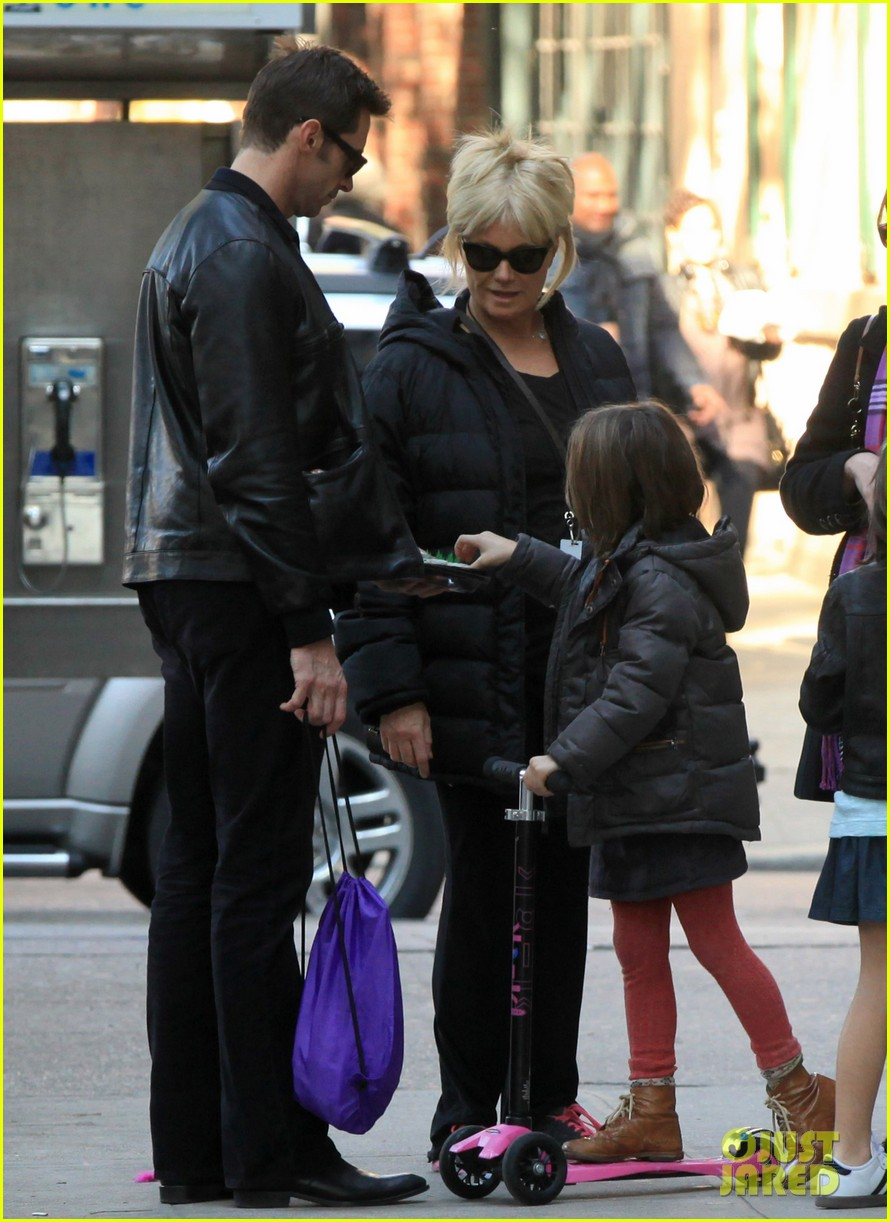 hugh jackman deborra lee furness day out with ava 02