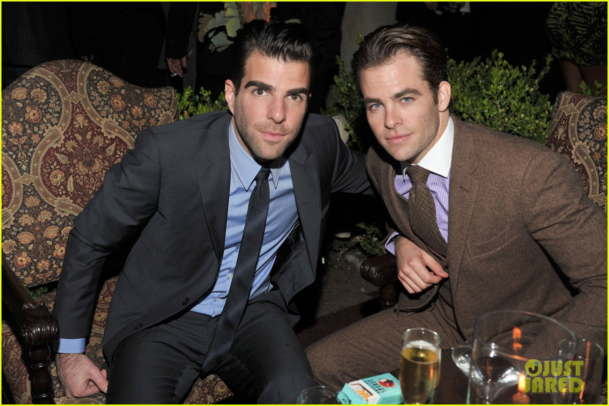 chris pine gq men of the year party with zachary quinto 03