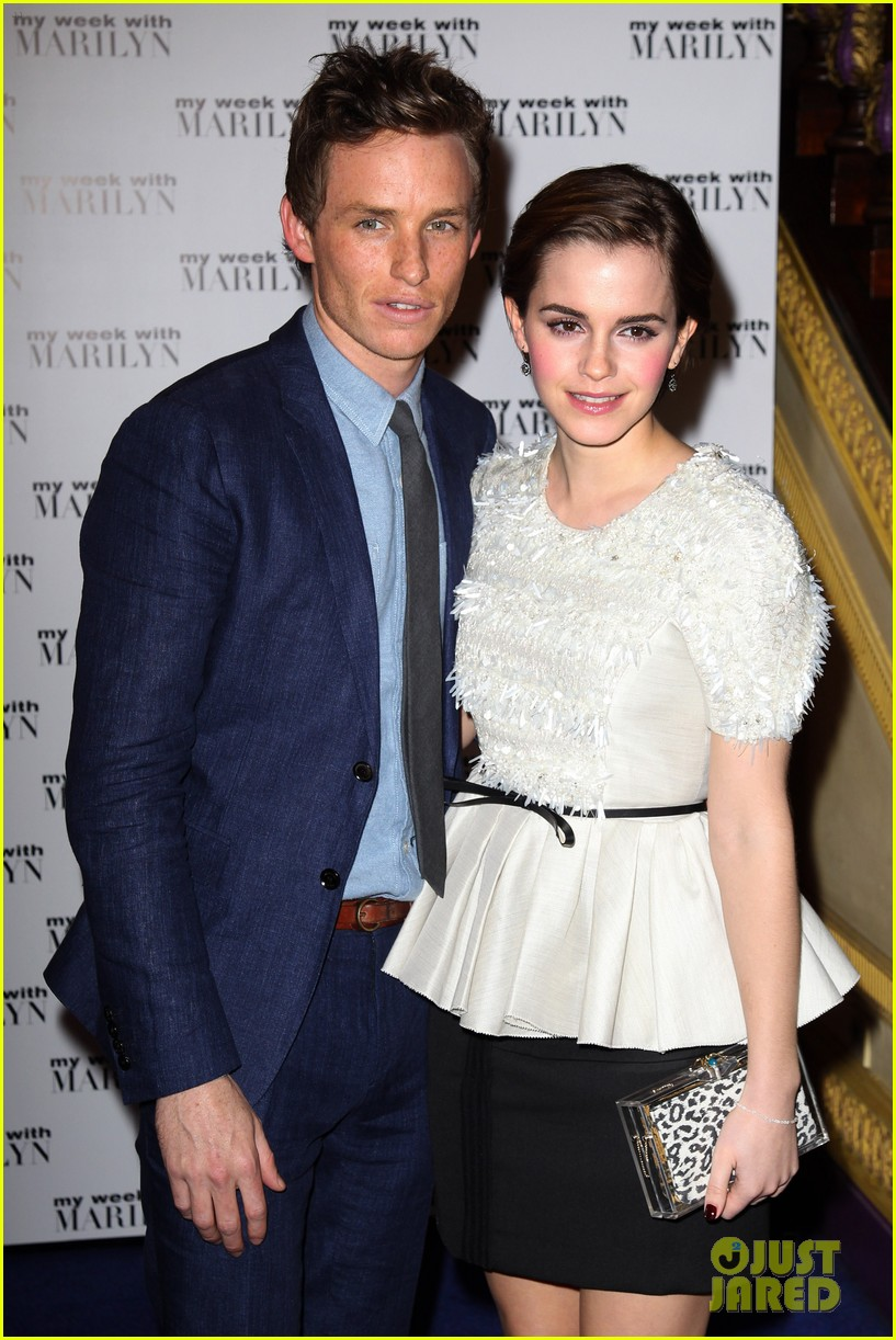 emma watson eddie redmayne week with marilyn uk premiere 03