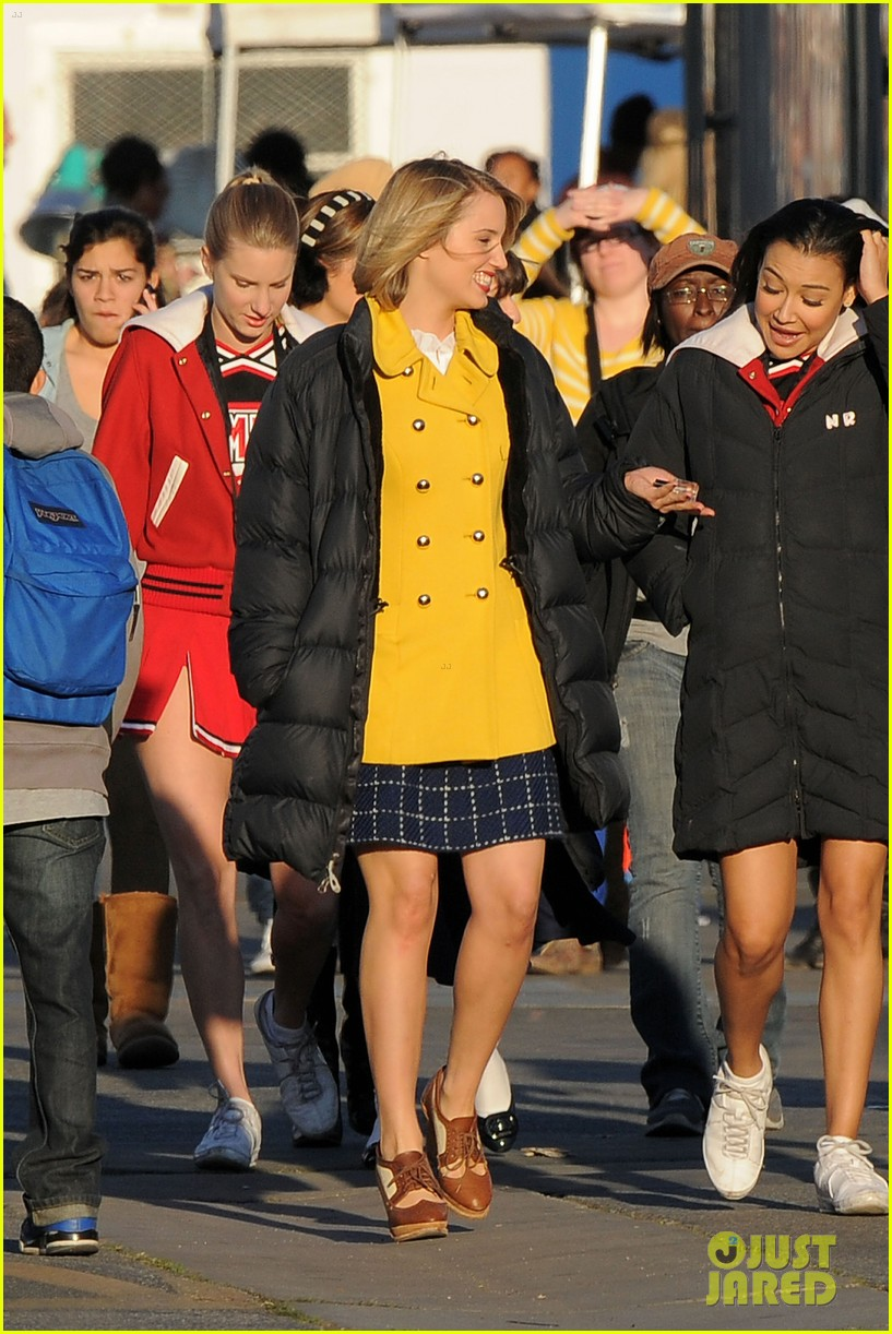 dianna agron lea michele glee grease 06