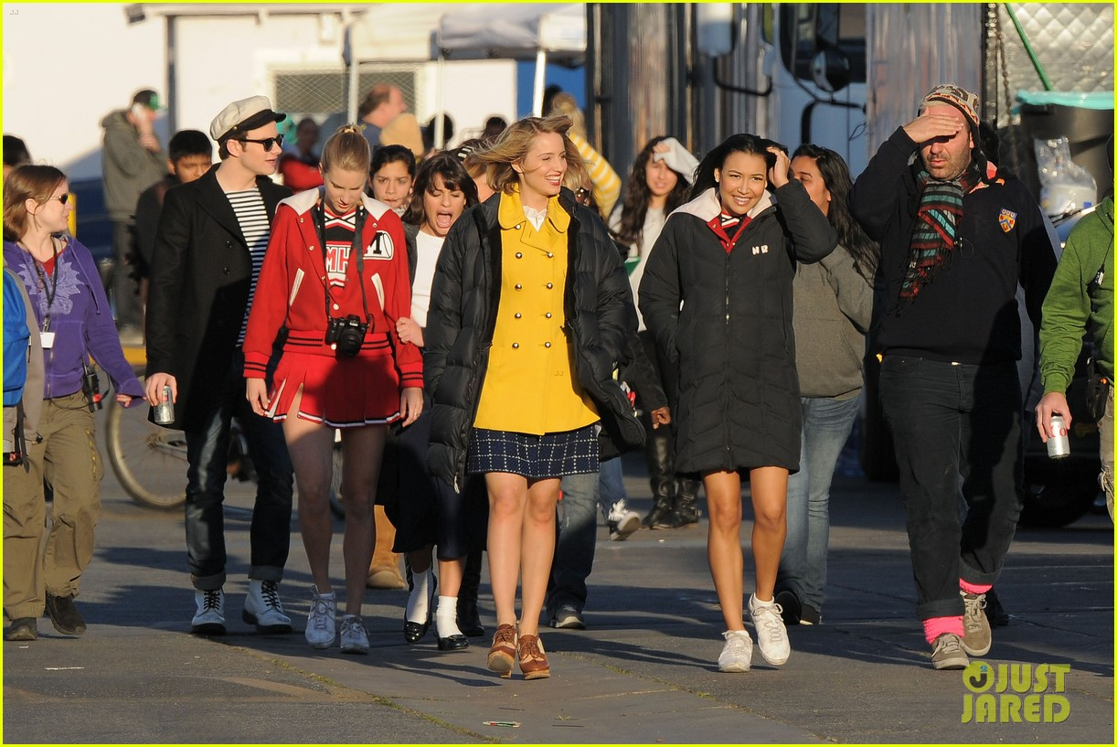 dianna agron lea michele glee grease 07
