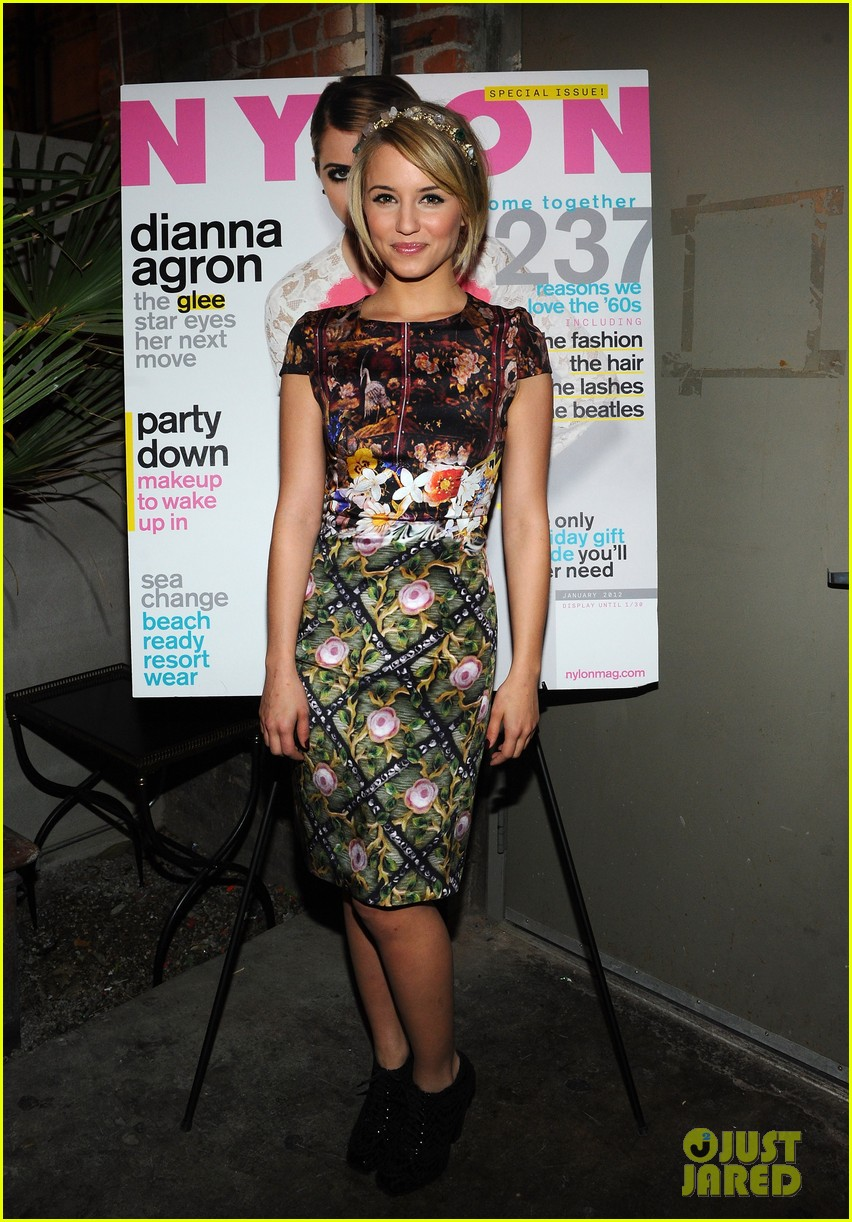 dianna agron nylon cover party 05
