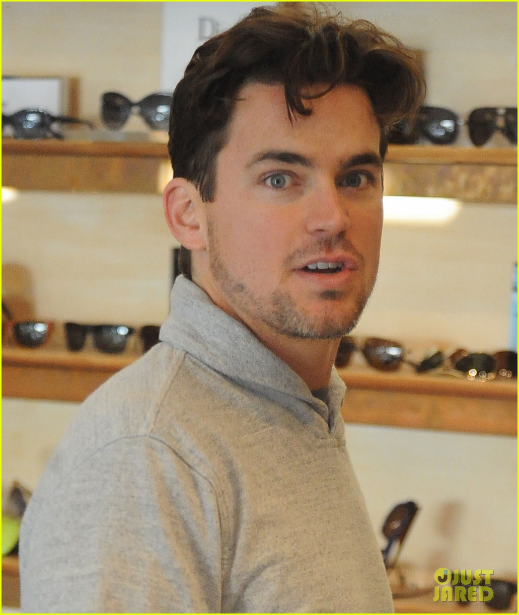 [Image: Matt Bomer Sunglasses Shopping 04]