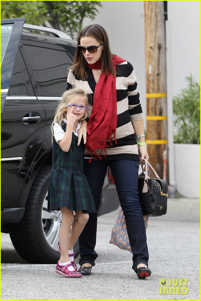 jennifer garner breakfast seraphina dad 11