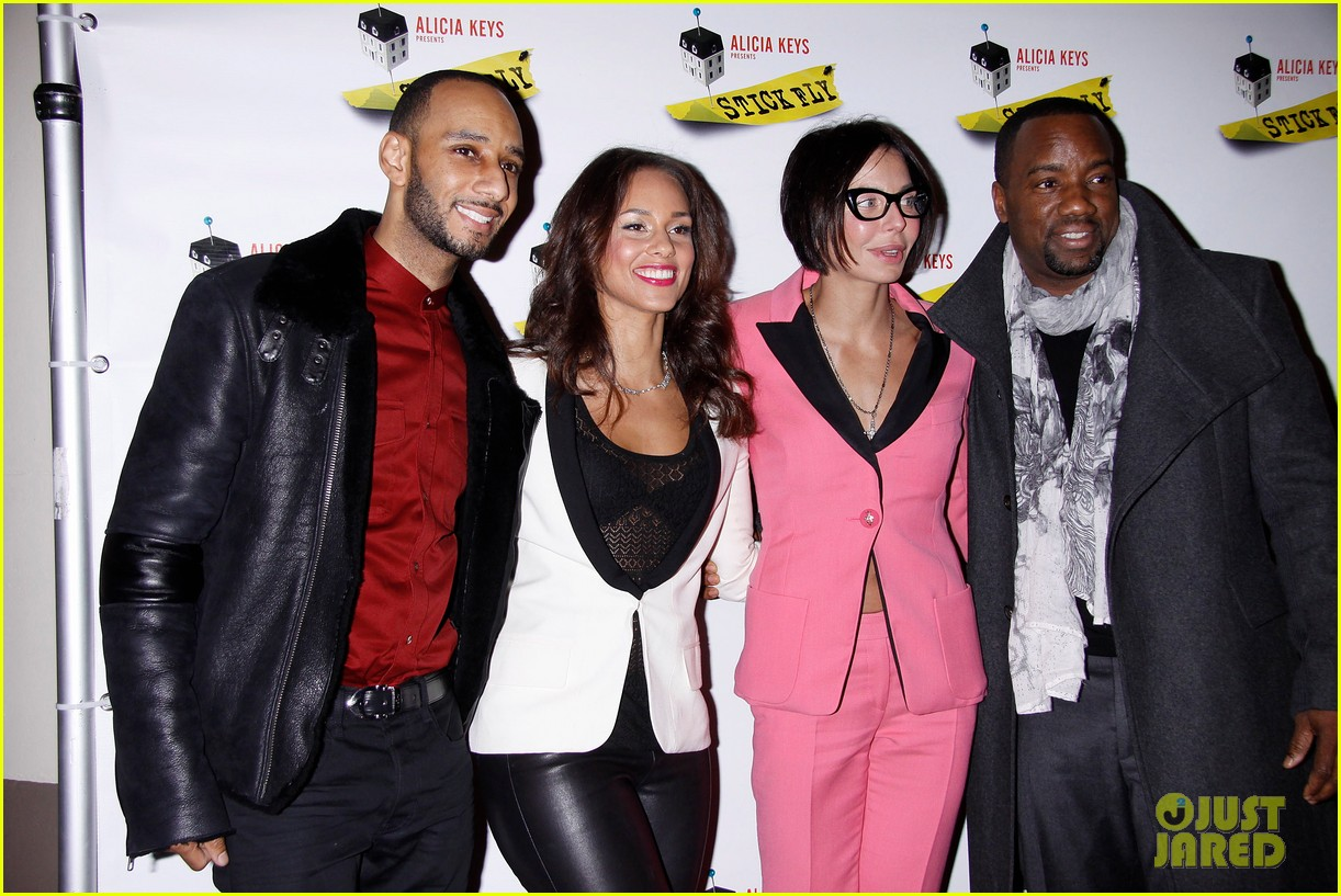 alicia keys swizz beatz stick fly red carpet 10