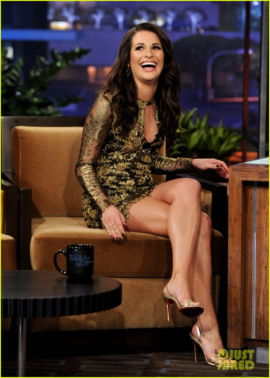 lea michele tonight show jay leno 03