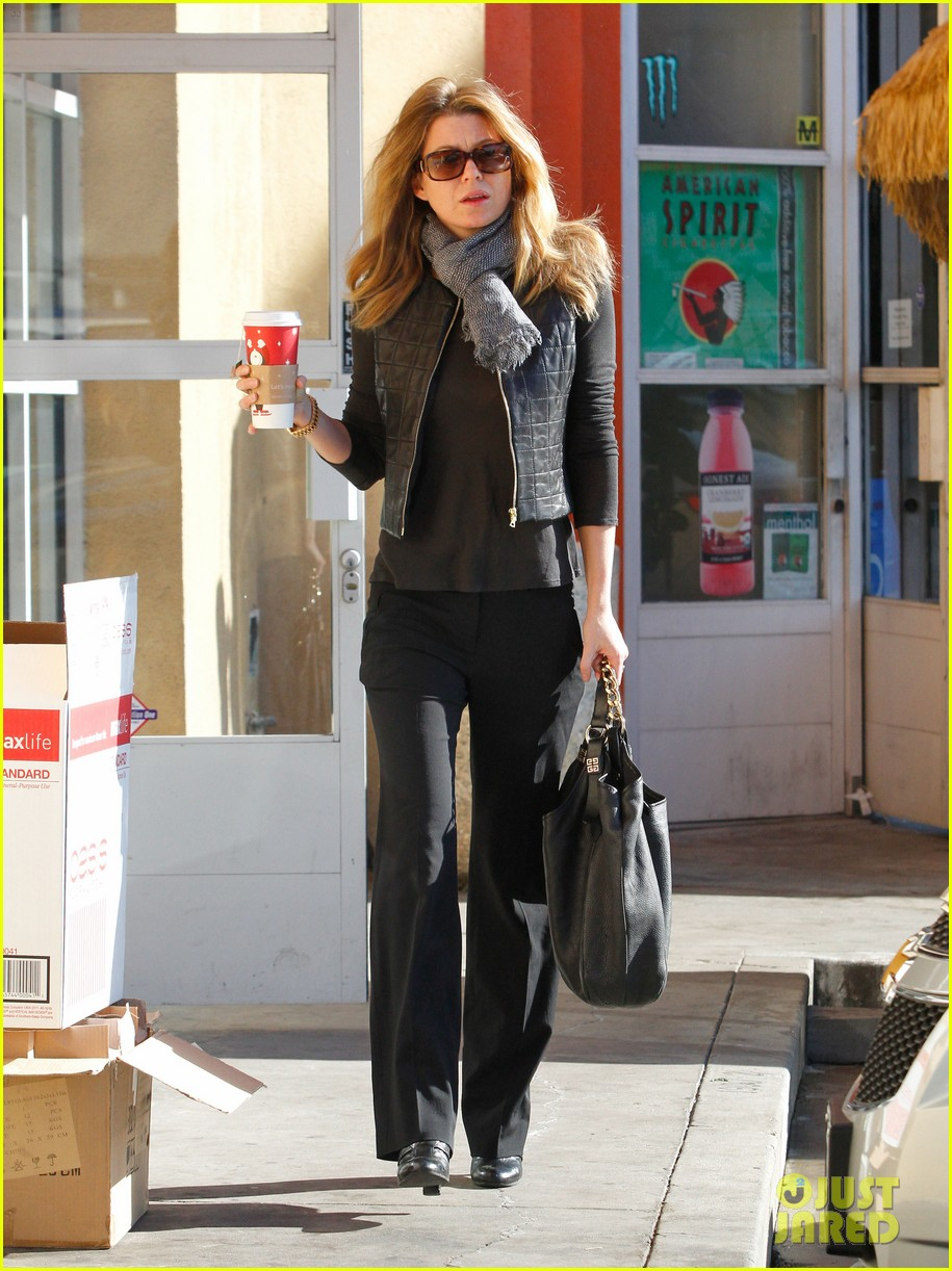 Ellen Pompeo Gets Her Caffeine Fix Photo 2607896 Ellen