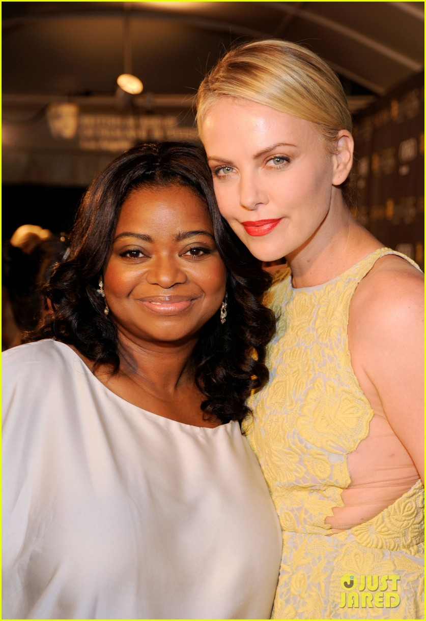 charlize theron bafta tea octavia spencer 08