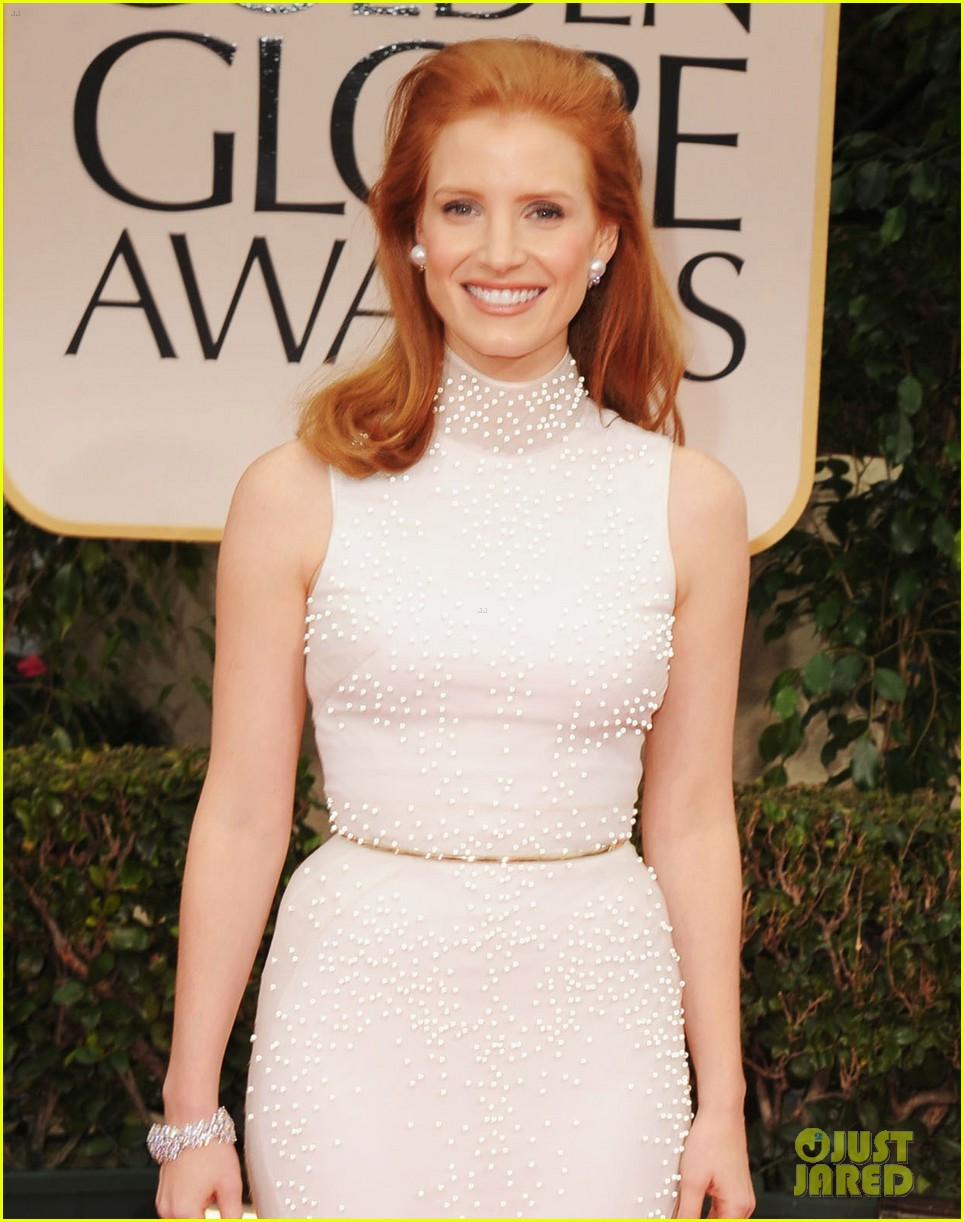 jessica chastain golden globes 2012 03