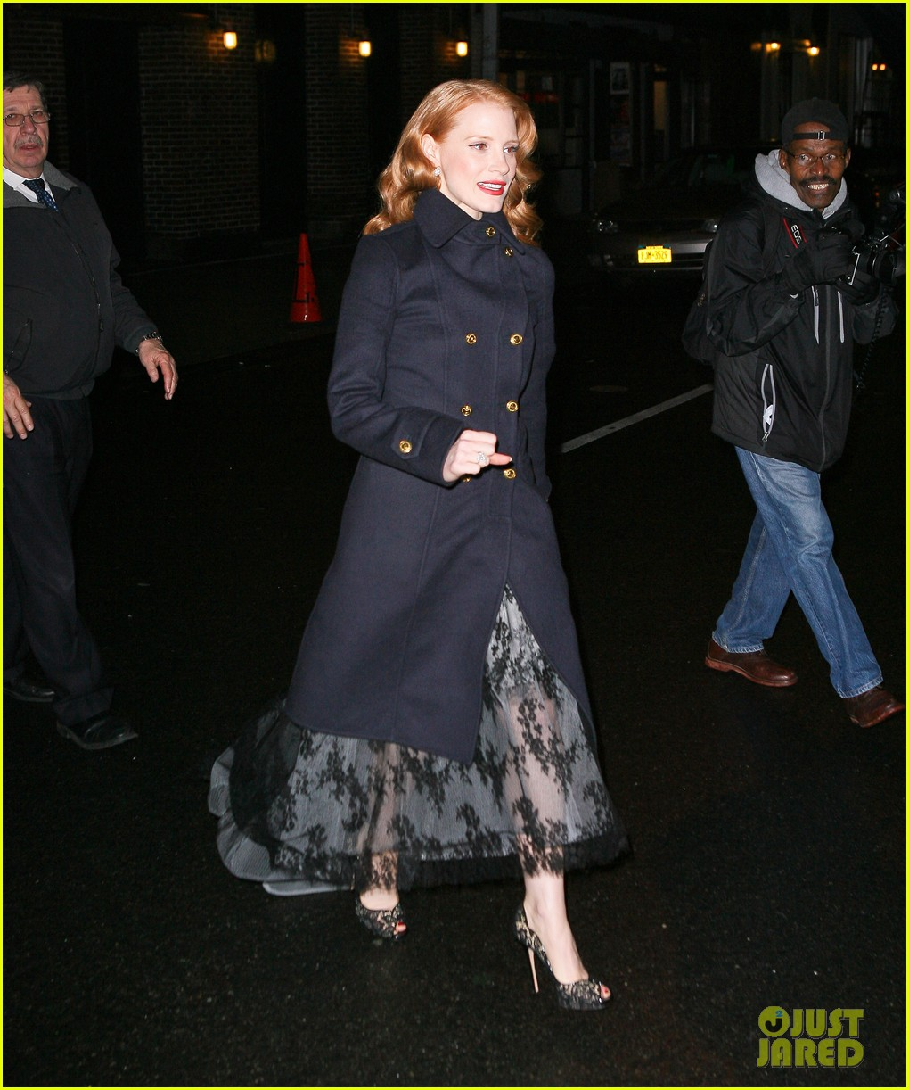 jessica chastain letterman 04