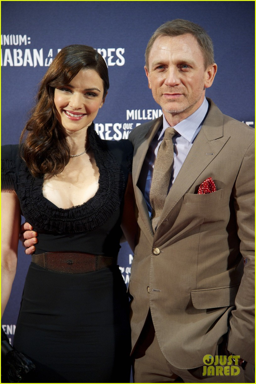 daniel craig rachel weisz rooney mara dragon tattoo madrid premiere 02