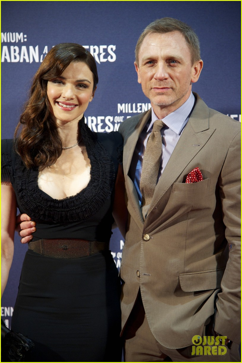 daniel craig rachel weisz rooney mara dragon tattoo madrid premiere 03