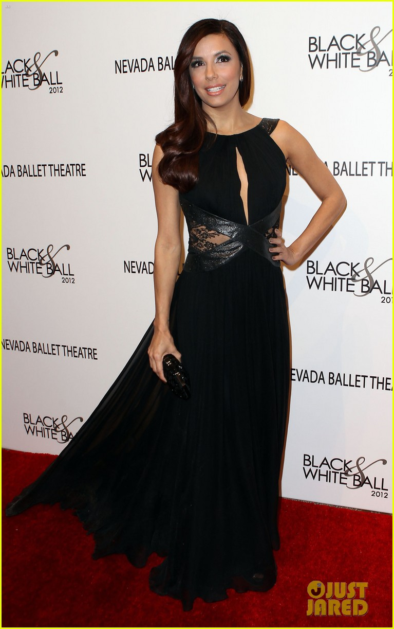 eva longoria black white ball 06