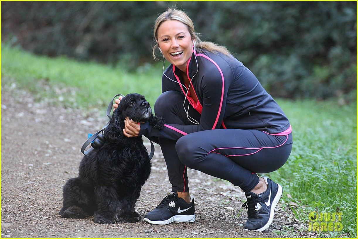 stacy keibler george clooney dog 02