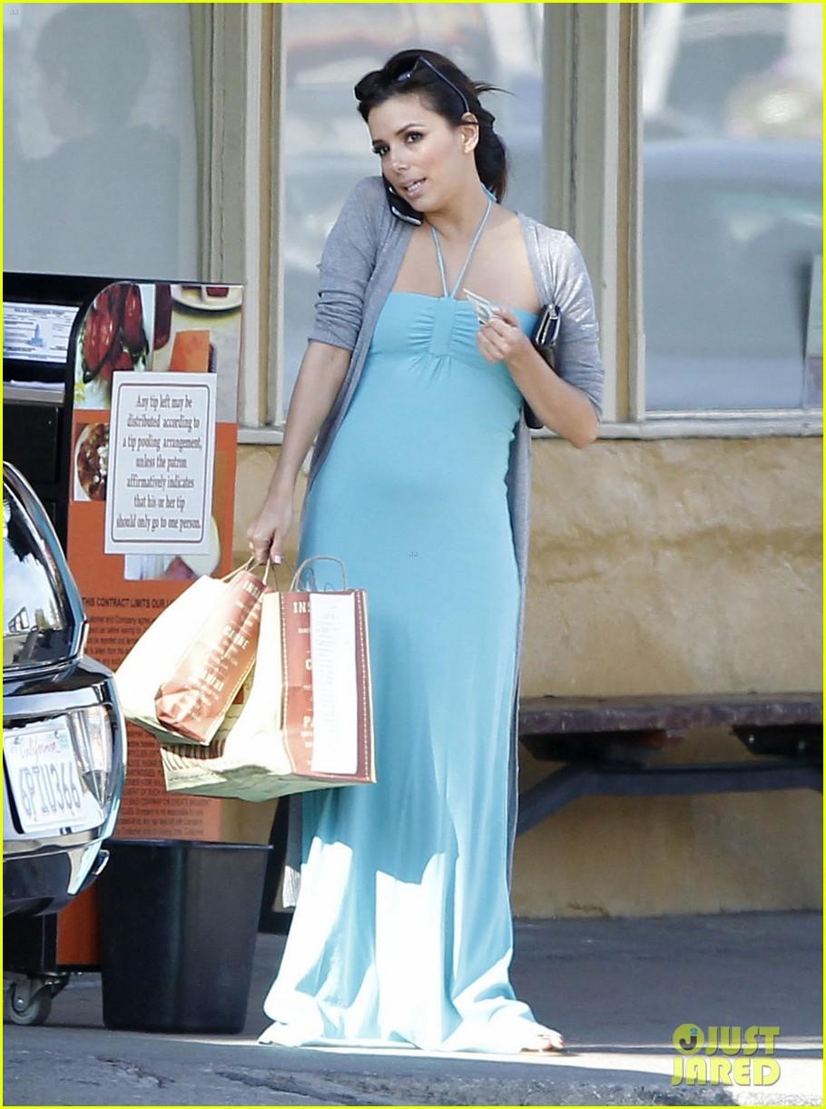 eva longoria blue maxi dress 02