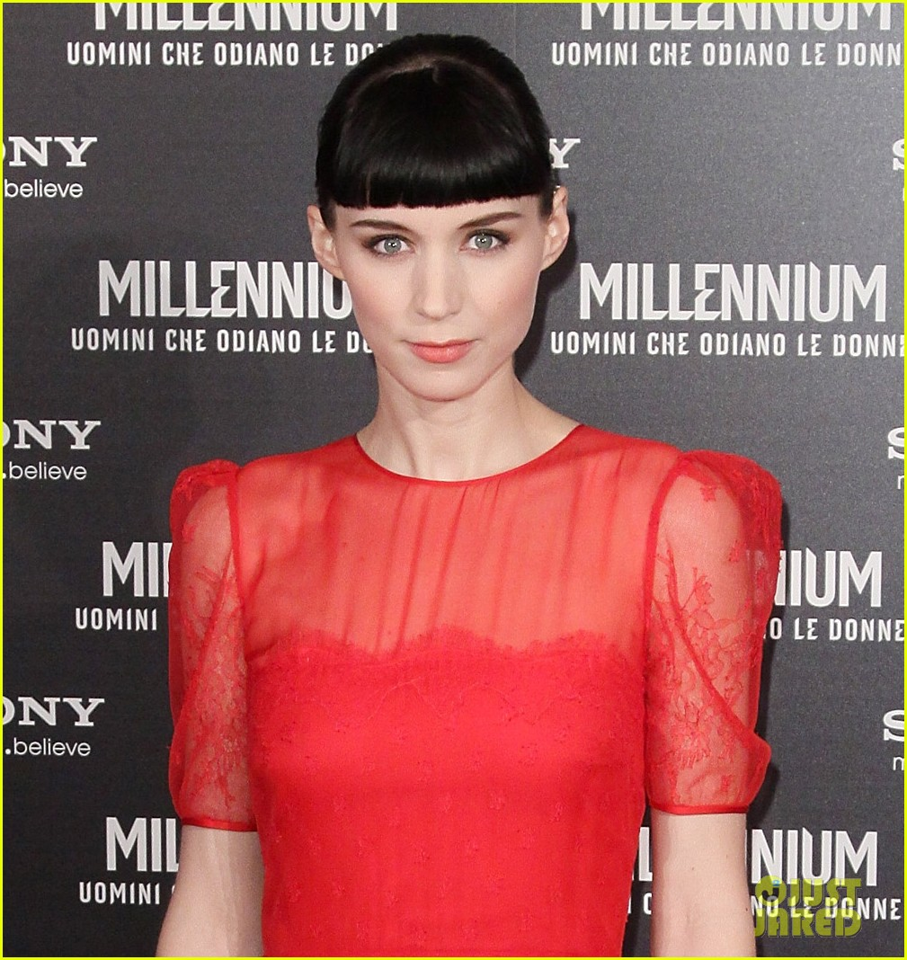 rooney mara rome premiere dragon tattoo 022615966