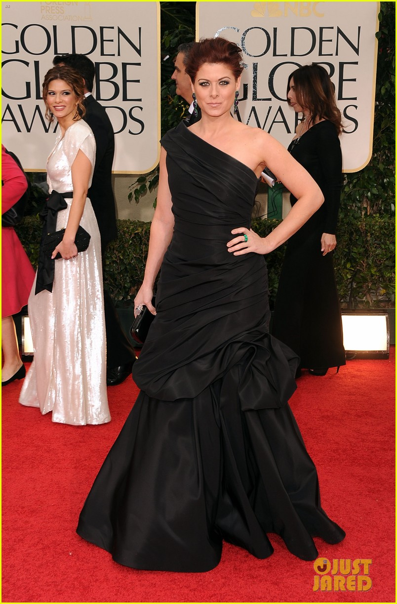 debra messing golden globes 2012 05