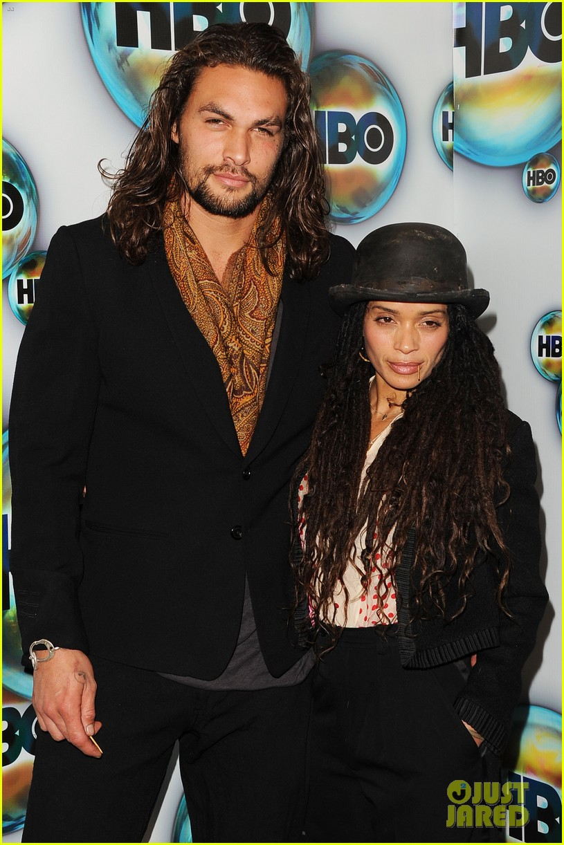 jason momoa lisa bonet hbo golden globes party 01