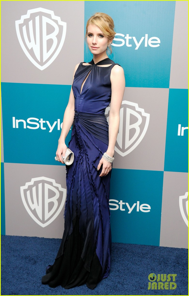 emma roberts chord overstreet golden globes after party 10