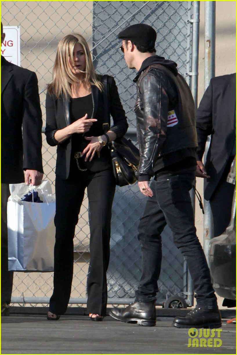 jennifer aniston kimmel justin theroux 13