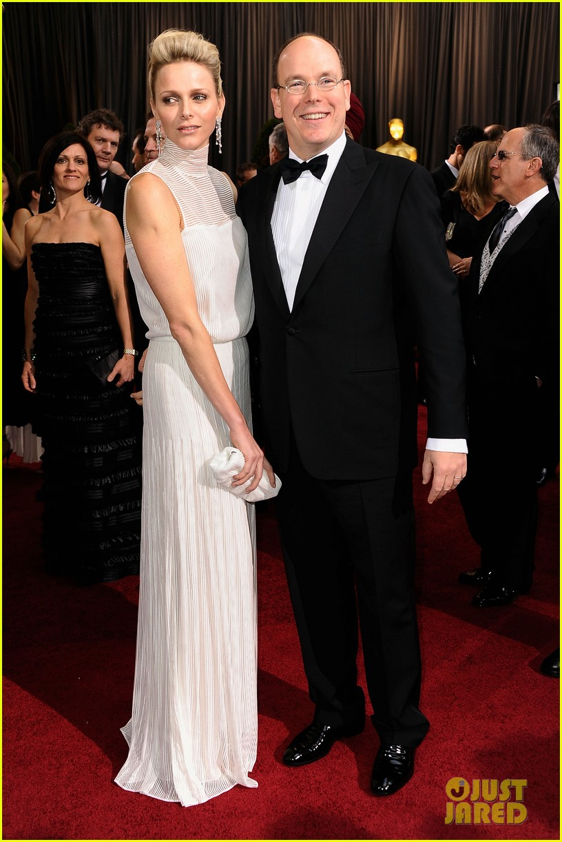 princess charlene prince albert oscars 2012 red carpet 05