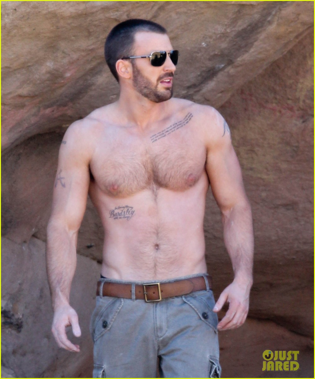 full sized photo of chris evan shirtless details magazine