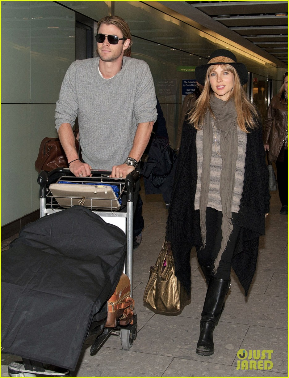 chris hemsworth elsa pataky los angeles to london 192625417
