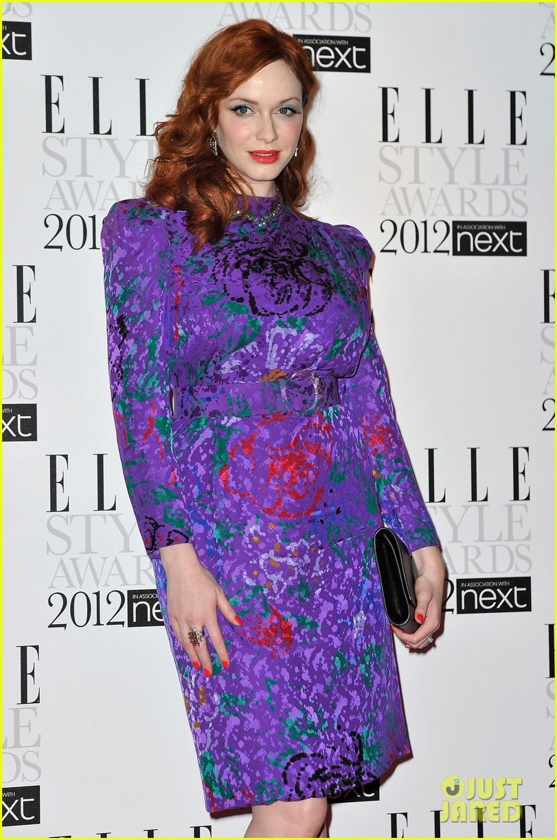 christina hendricks elle style awards 02