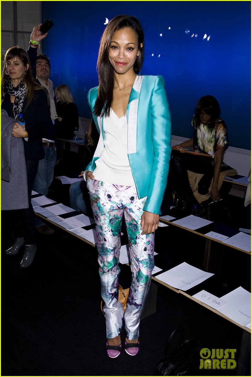 zoe saldana fashion week saturday 11