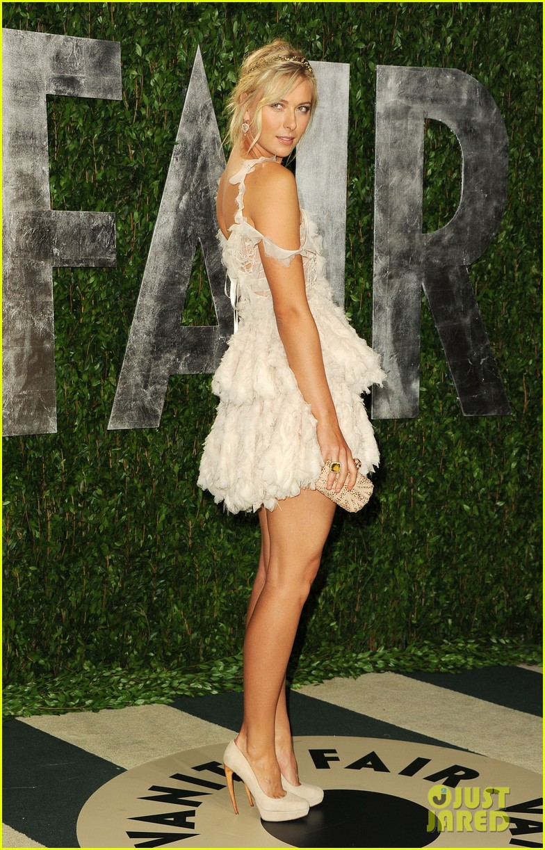 maria sharapova williams sisters vanity fair oscar party 01