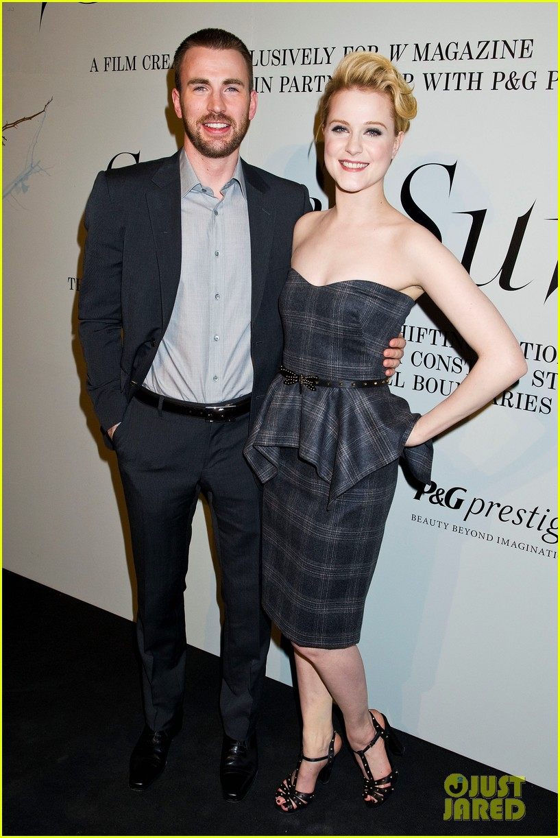 evan rachel wood chris evans w party 03