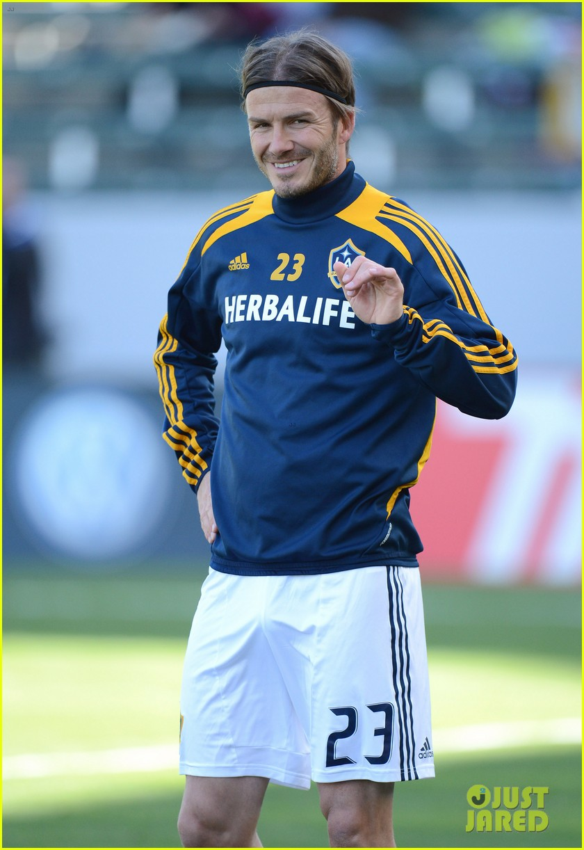 david beckham first l a galaxy win of the season 02