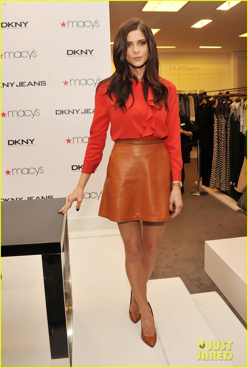 ashley greene dkny macys herald square visit 082643656