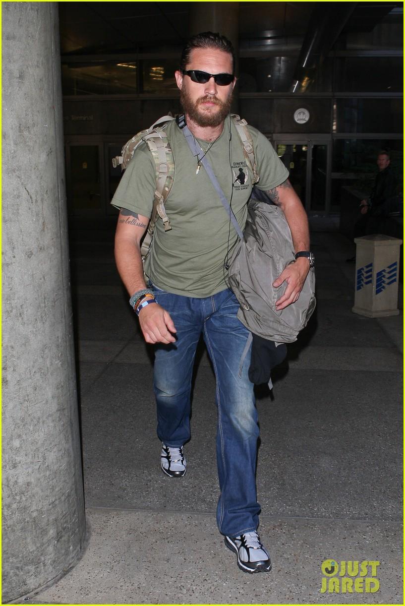 tom hardy bearded at l...