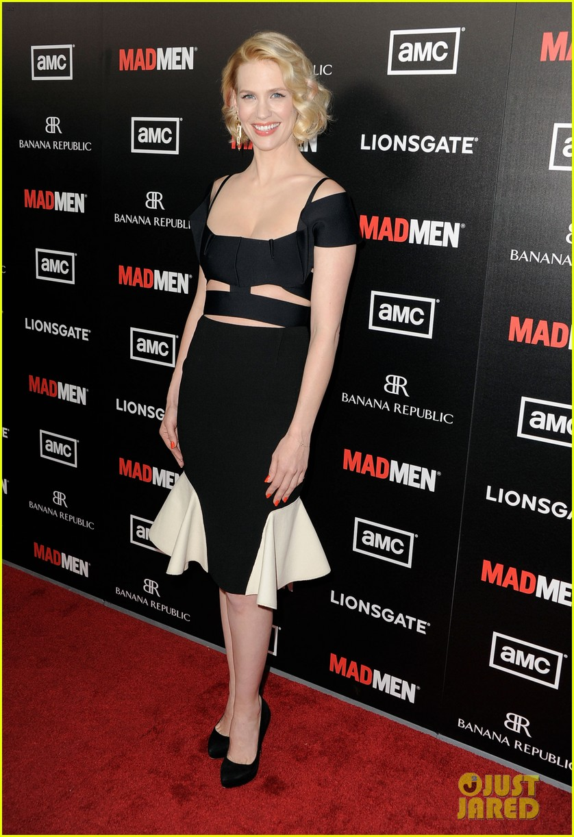 january jones jon hamm mad men premiere 07