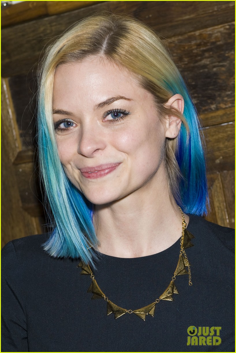 jaime king blue hair kyle newman birthday party 022640242