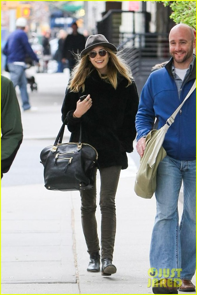 elizabeth olsen hat sunglasses nyc 10