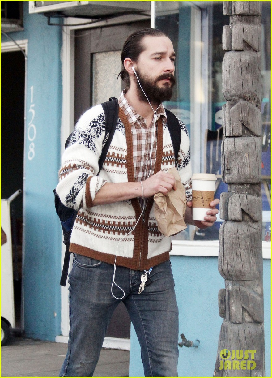 shia labeouf beard coffee 01