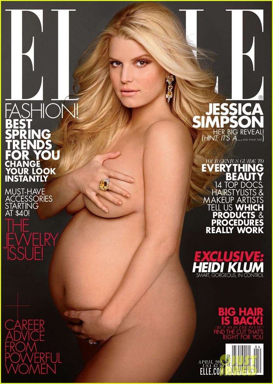 jessica simpson elle nude pregnant 012636810